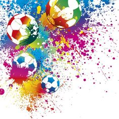 Football Splash Wallpaper Mural For Kids Football Bedroom