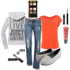 Juicy Casual, created by alyssakrause on Polyvore