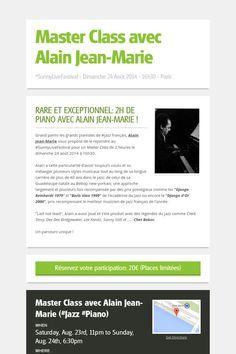 Master Class de piano avec Alain Jean-Marie > Dimanche 24 août 2014 à 16h30