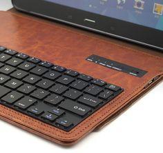 Supernight Bluetooth Keyboard Case Cover for Samsung Galaxy Tab 4 10.1
