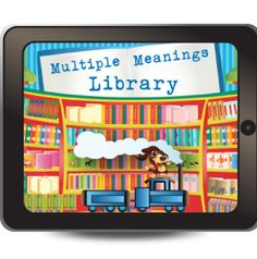 The Multiple Meanings Library was created by a certified speech and language pathologist for students ages 5–15 who struggle with oral and written comprehension of words with multiple meanings.  http://www.virtualspeechcenter.com/Styles/images/powerful/multiple_meanigns.png