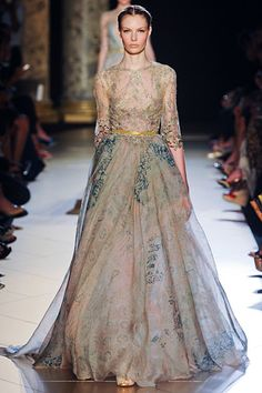 Flowy and dreamy! Elie Saab Fall 2012 Couture.