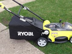 Ryoby 40v battery operated mower. No gas, no oil. Good, clean, modern mower that every yard needs!