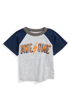 Peek 'Awesome' Baseball T-Shirt (Baby Boys) available at #Nordstrom