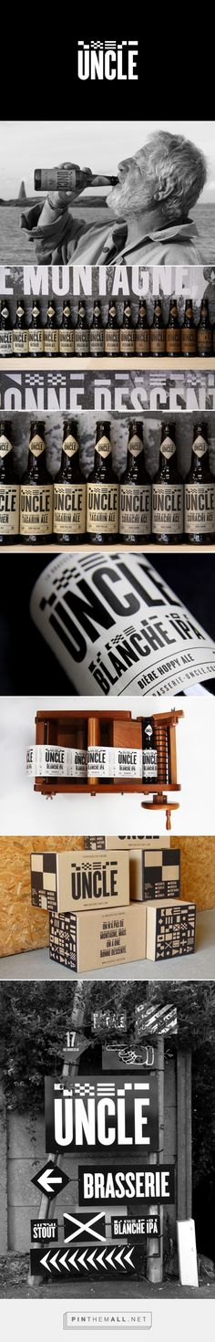 Brasserie Uncle - Packaging of the World - Creative Package Design Gallery - http://www.packagingoftheworld.com/2017/10/brasserie-uncle.html
