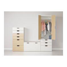STUVA Combinaison de rangement - blanc/bouleau - IKEA