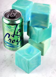 Learn how to make handmade LaCroix Soap. This project uses lime LaCroix to create a skin-loving bar of soap scented with lime fragrance oil.