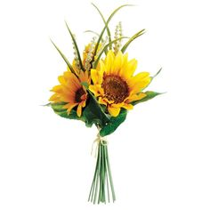 Silk Sunflower Bouquet in Yellow - 11in. Tall