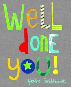Handwritten Well Done Cards from Beautiful Greetings Cards Congratulations Quotes Achievement, Congratulations Images, Congratulations Card, Positive Affirmations, Positive Quotes, Well Done Card, Bible 2, Teacher Stickers, Celebrate Good Times