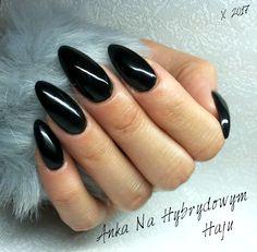 #paznokcie #manicure #hybrydy  #pazurki  #AnkaNaHybrydowymHaju #Nails #black #czarne #czerń #czarnepaznokcie #czarny #blacknails #x-hybrid