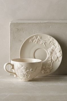 Petal Vines Cup & Saucer - anthropologie.com