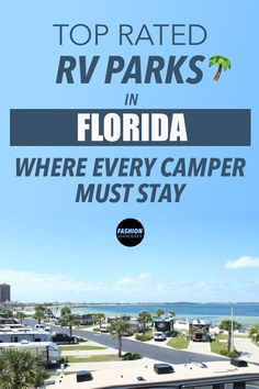 These top rated RV Parks in Florida where every camper must stay is THE BEST! It's close to Walt Disney World and Orlando and Lakes. Love each campsite has swimming pools, cabin and mobile homes for families vacations. Perfect for full time RV living and Orlando Florida, Rv Parks In Florida, Florida Camping, Beach Camping, Van Camping, Florida Travel, Camping Cabins, Camping Places, Florida Keys