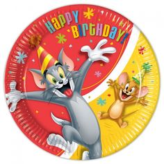 Tom & Jerry Paper Plates, Packs of 8