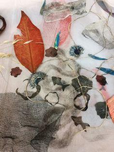 Objetos para serie de monotipos... #monoprint #estampacion #experimentar #naturaleza #texturas #estamp #nature