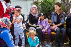 Queen Rania visited Syrian refugee camp in Lesbos