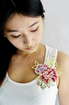 Image result for heng lee floral embroidery