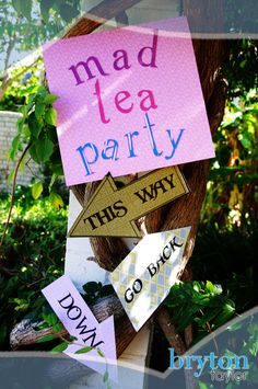 Mad Tea Party; Alice in Wonderland Party Theme; Part 4