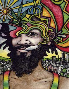 Kenny Mac & Nick Gribbin (Featuring Wez Dowling) - Supersonic Rasta (Original Mix) by Topnotch Records Reggae Art, Reggae Style, Reggae Music, Rastafarian Culture, Rasta Art, Medical Marijuana, Weed Art, Dope Art, Psychedelic Art