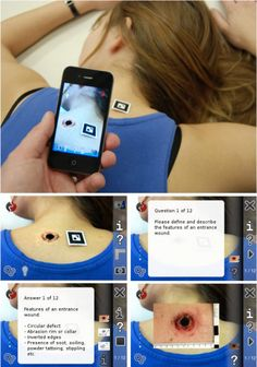 Using an iPhone and augmented reality to teach medical students