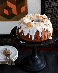 Coconut Chiffon Bundt Cake with Coconut Frosting | Joanne Chang is a master of all kinds of desserts, from elegant French to homespun American like this classic coconut Bundt cake.