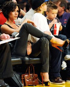 bam bitches Victoria Beckham at Lakers Game