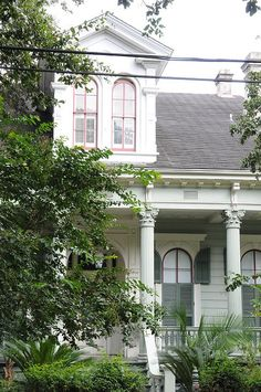 Arched Windows in the New Orleans Garden District