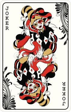 Double joker from deck of playing cards