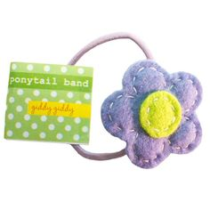Clothing | VIVAIODAYS Giddy Giddy PONYTAIL ELASTIC HAIR BAND - BLUE FLOWER $8.00