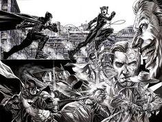 Batman, Joker and more by Lee Bermejo Comic Book Artists, Comic Book Characters, Comic Books Art, Comic Art, Epic Characters, Batman Und Catwoman, Joker, Batman Arkham, Batgirl