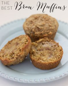 The Best Bran Muffins - perfect for everyday breakfasts!  You'll love these!  www.overthebigmoon.com!