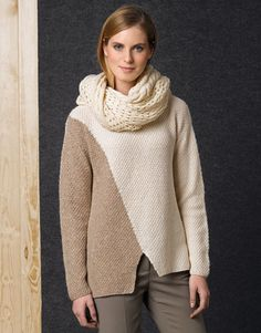 Book Woman Concept 1 Autumn / Winter | 44: Woman Sweater | Off-white / Beige