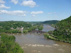"""Harper's Ferry. 8.5mi. 4.5hrs. (~1hr 20 mins from DC) """"The first 1 mile is also steeped with history, climbing a flight of steps hand hewn in the 1800's, passing St. Peters Roman Catholic Church, the ruins of St John's Episcopal Church, Jefferson Rock, and Harper Cemetery. All before reaching the secondary parking area where the hike crosses the US340 bridge and Shenandoah River."""""""