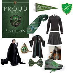 """""""Harry Potter slytherin House Uniform"""" by dearbhla-doherty on Polyvore"""