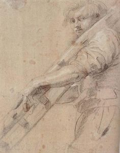 Peter Paul Rubens - Sketch of worker Peter Paul Rubens, Amazing Drawings, Cool Drawings, Figure Painting, Painting & Drawing, Miguel Angel, Pedro Pablo Rubens, Baroque Art, Figure Drawing Reference