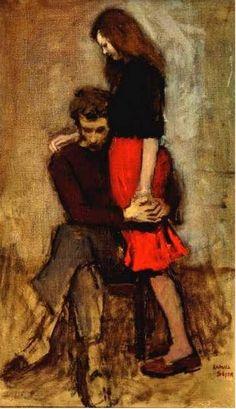 """Consolation"" - Raphael Soyer, 1959"