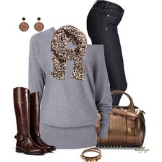 """""""Sweater, Jeans and Boots Contest"""" by kginger on Polyvore"""