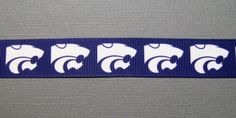 KANSAS STATE Grosgrain 'Wildcat' Logo Ribbon, 7/8""