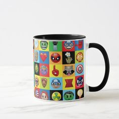 Marvel Emoji Characters Grid Pattern Mug - tap/click to get yours right now! #Mug  #groot #emoji #rocket #raccoon #emoji Marvel Emoji, Marvel Mug, Marvel Gifts, Marvel Comics, Cute Happy Birthday, Happy Birthday Parties, Diy Birthday, Emoji Mug, Emoji Drawings