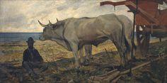 Giovanni Fattori (Italian, 1825-1908), Riposo (Il carro rosso) [Rest (the red cart)], 1887. Oil on canvas.