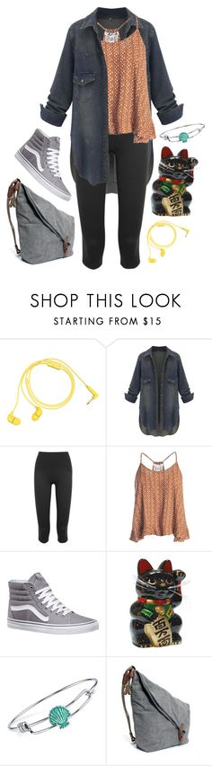 """Untitled #708"" by ryleerose1998 ❤ liked on Polyvore featuring Happy Plugs, SPANX, Sans Souci, Vans and Disney"