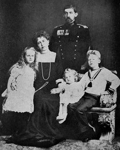 Crown Prince Ferdinand, and his early family: Crown Princess Marie and their first three children, Prince Carol, Princes Elisabeth, and Princess Marie (Mignon) Romanian Royal Family, Spanish Royal Family, Princess Victoria, Queen Victoria, Michael I Of Romania, History Of Romania, Kingdom Of Great Britain, Ferdinand, Old Pictures