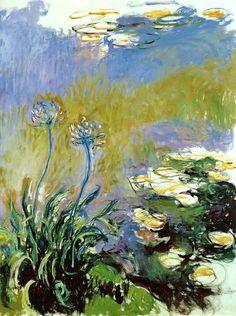 Claude Monet. Agapanthus (1917).
