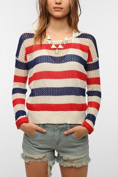 Coincidence & Chance Americana Stripe Mesh Sweater #urbanoutfitters