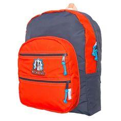Orange/Charcoal Big Pocket Backpack