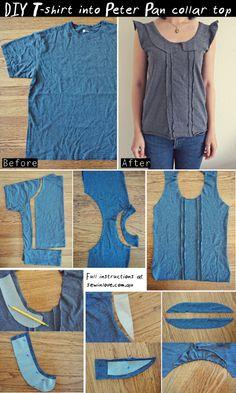 Tee Shirt Tutorials on Pinterest | Shirt Tutorial, Tees and T Shirts