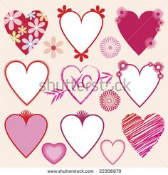 Borders For Poster Flower | vector : A collection of hearts and flowers illustrations and borders ...