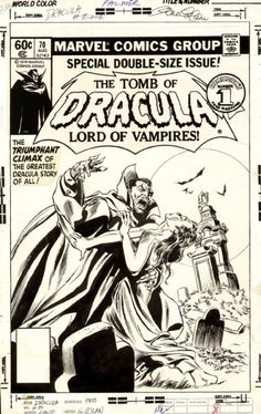 The cover to Tomb Of Dracula n°70 by Gene Colan and Tom Palmer, the final issue.