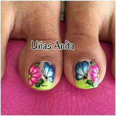 Toenail Art Designs, Pedicure Designs, Toe Nail Designs, Nails & Co, Manicure And Pedicure, Gel Nails, Pedicures, Cute Toe Nails, Toe Nail Art