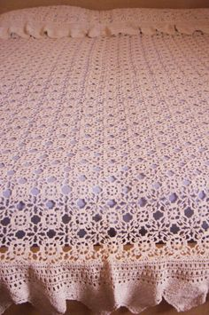 Queen Sized Shell Pattern Crochet Bedspread Patterns