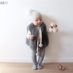 a2ce24190e8 Baby Fur Coat Real Fur Clothes Infant Winter Vest Toddler Boys/Girl WInter  Waistcoat Toddler